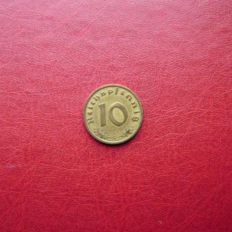 Германия. Рейх 10 пфеннигов 1938 G