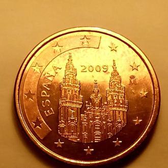 5 евро центов 2009 года, Испания - а