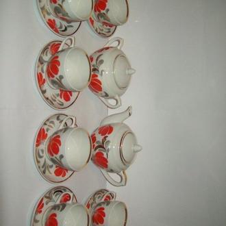 Сервиз чайный Вербилки про-во СССР