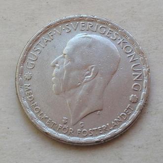 1 крона, 1943 г, Швеция, серебро