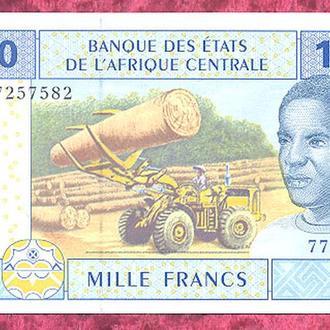 Боны Африка КФА Камерун 1000 франков 2002 г.