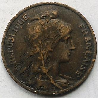 Франция 10 сантим 1911 г.