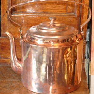 Мідний антикварний чайник 5 л робочий!