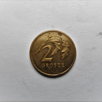 Оригинал.Польша 2 гроша 2005 года.