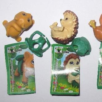 Серия животных в памперсах. Лиса, Еж, Бека, Заяц. Киндер.