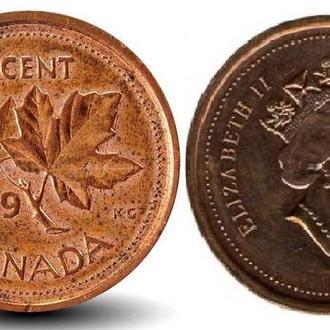 Монета Канады 1 цент