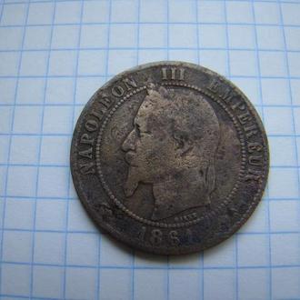 10 сантимов 1861 г., Наполеон III