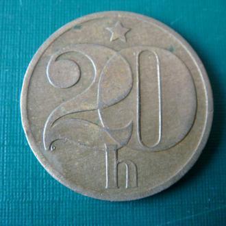 Чехословакия 20 геллеров 1978