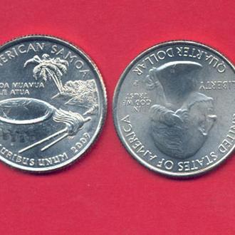 Монеты Америка США  25 центов 2009 г. Самоа