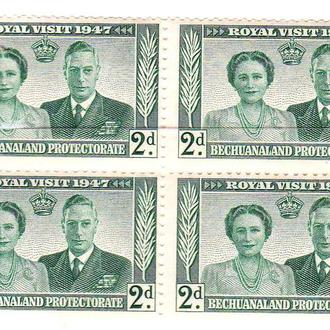GB . Бечуаналэнд  1947 г  MNH  - визит - квартблок