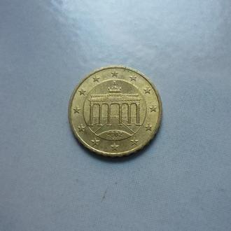 ФРГ 10 евроцентов 2002 J