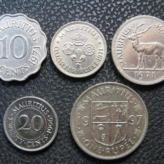 Монеты Маврикий 5 шт.