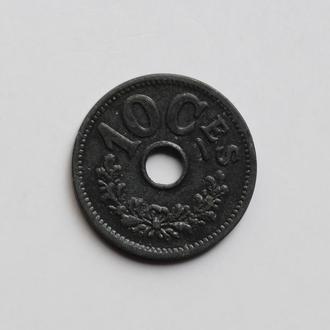 Люксембург 10 сантимов 1915 г., XF, 'Великое Герцогство (1854 - 1917)'
