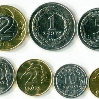 Монеты Польши - комплект 7 шт.
