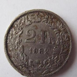 2 франка 1982г