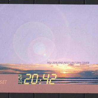 Новая Зеландия 1999 ХМК с ОМ СГ Фауна Последний закат 20 века