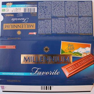 """Обёртка от шоколада """"Millennium Favorite молочний шоколад""""(ТОВ""""Malbi"""",Днепропетровск,Украина,2011)"""