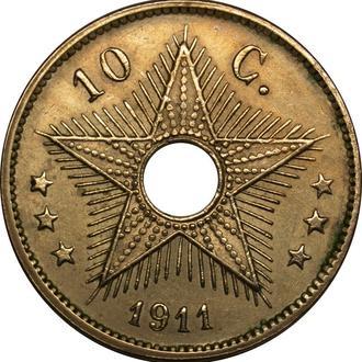 Бельгійське Конго 10 Centimes 1911    A140