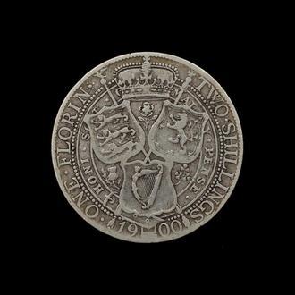 1 Флорин / 2 Шиллинга 1900,(20) Великобритания