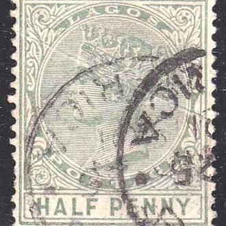 GB Колонии . Лагос 1882 г - гаш - Виктория