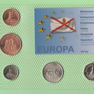 Набор монет ДЖЕРСИ 2003 год блистер запайка пластик набір ДЖЕРСІ