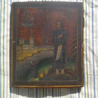 Икона старая Симеона Верхотурского антиквар