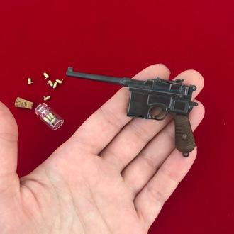 Миниатюрный пистолет Маузер Mauser C96 под 2мм патрон
