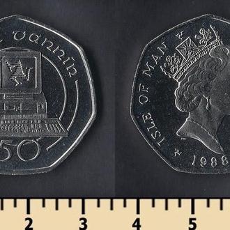 Мэн остров 50 пенсов 1988