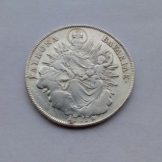 1755 г - талер Бавария,Германия,серебро