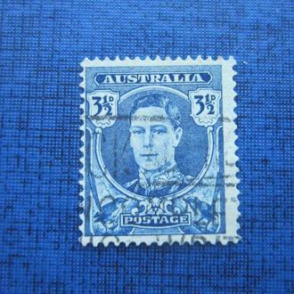 Марка Австралия 1942-1944 стандарт 3.5 цента гаш
