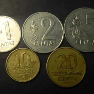 Комплект монет Литви (до євро)