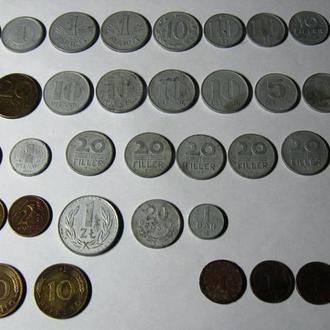Редкие Монеты мира 41 штука Европа 20 век времен СССР