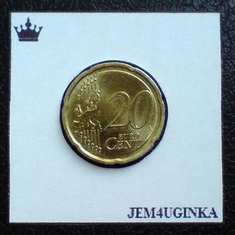 Германия. 20 евроцентов 2009 г.  XF ++