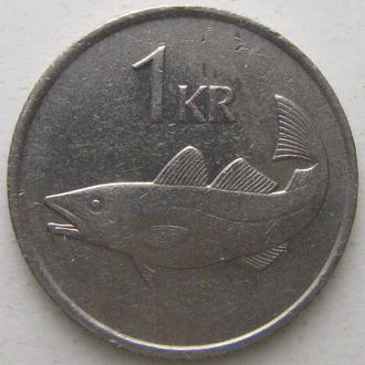 Исландия 1 крона 1981 год