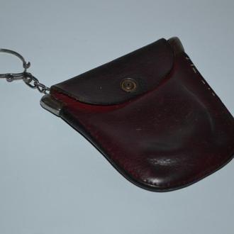 старинный красивый кошелек ключница брелок натуральная кожа винтаж