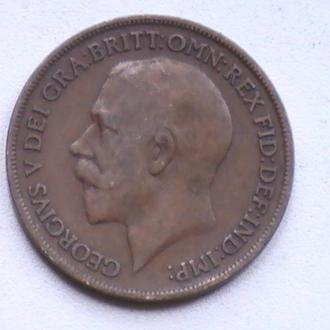1 Пенни 1919 г Великобритания 1 Пенні 1919 р Великобританія