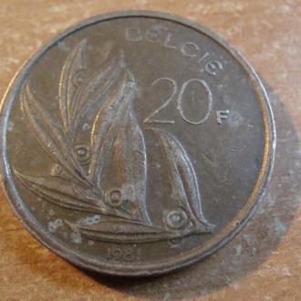 Бельгия 20  франков  1981  (1)