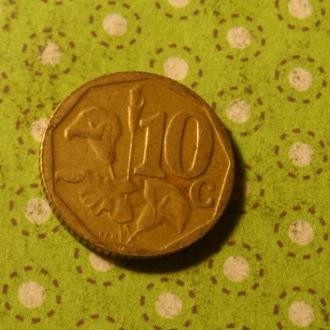 ЮАР 2003 год монета 10 центов Африка ПАР !