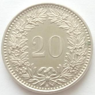 Швейцария 20 раппенов, 2014