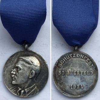 Медаль Schützenfest Sommerfeld 1934г./ Стрелковый праздник в г.Зоммерфельд 1934.