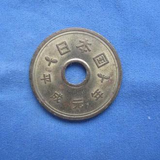 Япония 5 иен 1989 год