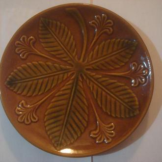 Тарелка настенная  Каштан
