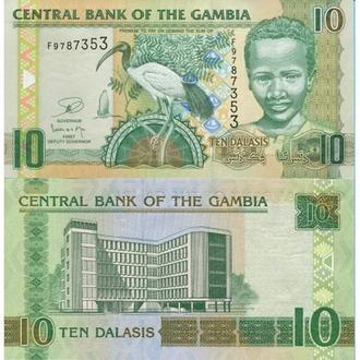 Гамбия 10 даласи 2010 UNC