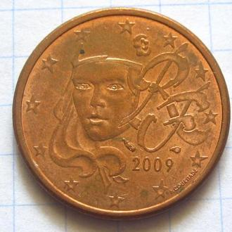Франция_ 5 евро центов 2009 года  оригинал