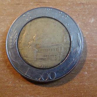 Италия 500 лир 1988