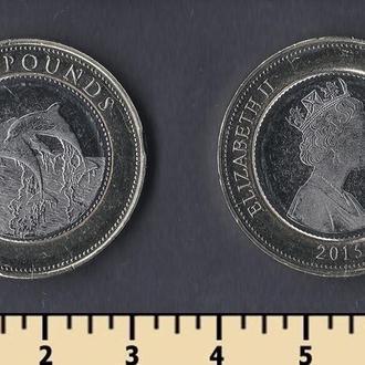 Гибралтар 2 фунта 2015