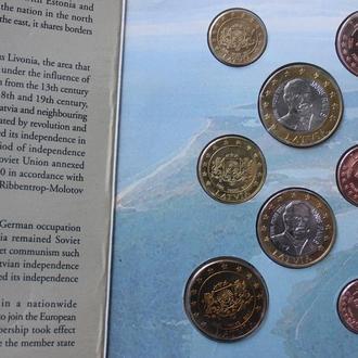 Набор фантазийных евро Латвии 2004г.
