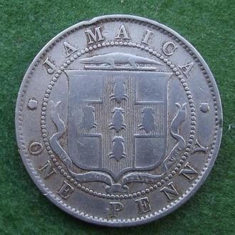 Ямайка 1 пенни 1906 года