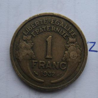 ФРАНЦИЯ. 1 франк 1932 года.