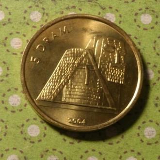 Нагорный Карабах 2004 год монета 5 драм !
